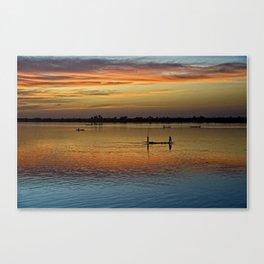 River Niger sunset - Segou, Mali, Africa Canvas Print