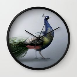 Peacock - Wild Beauty Collection by Bente Schlick Wall Clock