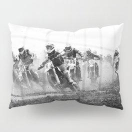 Motocross black white Pillow Sham