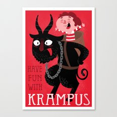 Have fun with Krampus Canvas Print