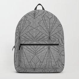 Art Deco in Black & Grey Backpack