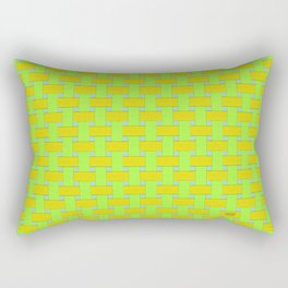 Yellow Cross Hatch Weave Rectangular Pillow
