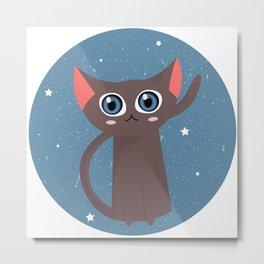 Space cat Metal Print