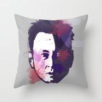 ben giles Throw Pillows featuring Ben by BIG Colours