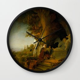 Christ and St Mary Magdalen at the Tomb Wall Clock