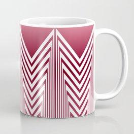Art Deco Pink Arrowhead Pattern Coffee Mug