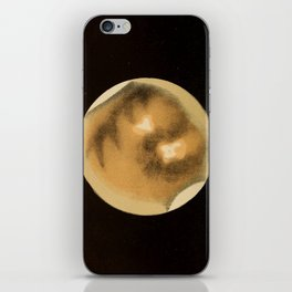 Astronomy for the Use of Schools and Academies (1882) - Telescopic Appearance of Mars iPhone Skin