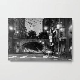 San Francisco Tunnel Metal Print
