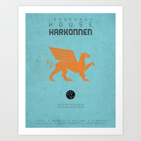 HOUSE HARKONNEN Art Print