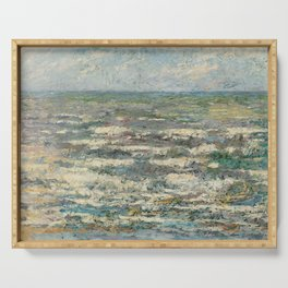 The Sea at Katwijk by Jan Toorop Serving Tray