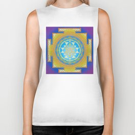 Sri Yantra painting on canvas Biker Tank