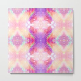 rAiNbOw Crystal * Star Quartz * Mandala Metal Print