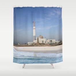 Tel Aviv photo - Reading power station Shower Curtain