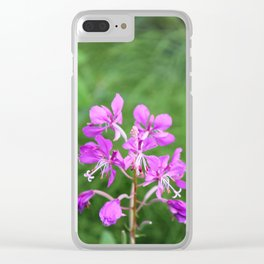 Fireweed Wildflower Clear iPhone Case