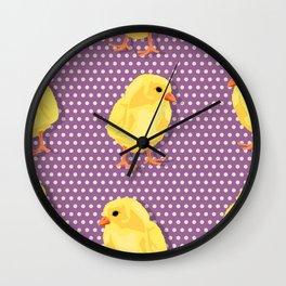 Chiken pattern Wall Clock