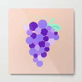 Grape Cutie Metal Print