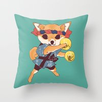 doge Throw Pillows featuring CHAPPA DOGE by f-premaur