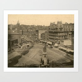 Exchange Place, Providence, Rhode Island Art Print