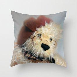 Mr Teddy Throw Pillow
