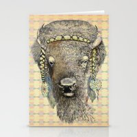 bison Stationery Cards featuring Bison by dogooder