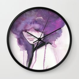 Stars in Her Eyes Wall Clock