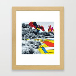 Mondrian Z Framed Art Print