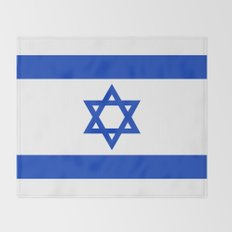 The National flag of the State of Israel Throw Blanket