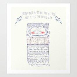 bedtime cat Art Print