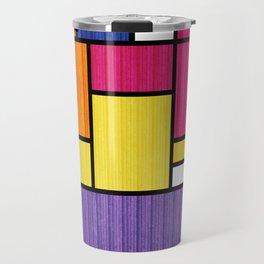 Mondrian Bauhaus Pattern #11 Travel Mug