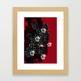 Chinese wall flowers Framed Art Print