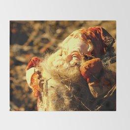 Ruined Santa Claus Throw Blanket