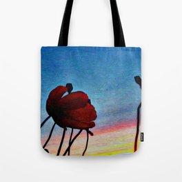 Poppy Sunset Tote Bag