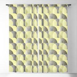 Bubble pattern yellow-grey Blackout Curtain