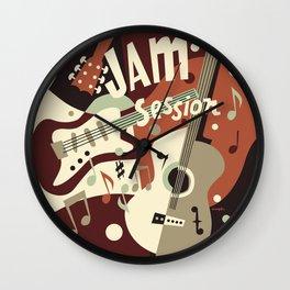 Guitar Music abstract Wall Clock