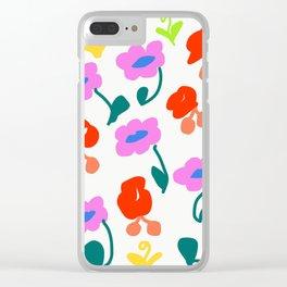 Dancing Flowers #Repeating #DigitalArt #Nature Clear iPhone Case