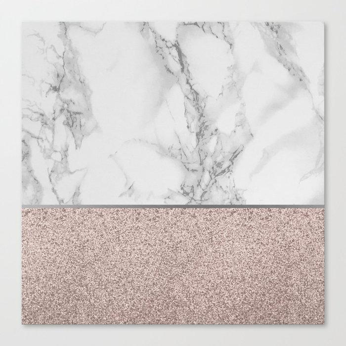 Marble + Glitter #2 Canvas Print