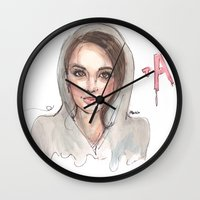 pretty little liars Wall Clocks featuring Pretty Little Liars by deepfriedfreckles