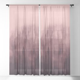 Pine Tree Fantasy Forest Landscape V.5 Sheer Curtain