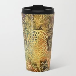 Flower Of Life Batik Travel Mug