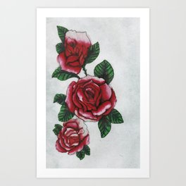 New roses Art Print