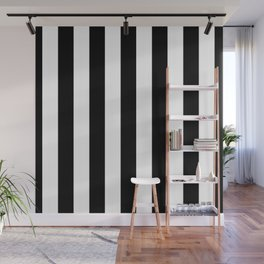 Stripes Black And White Wall Mural