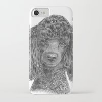 poodle iPhone & iPod Cases featuring Poodle - black by Doggyshop