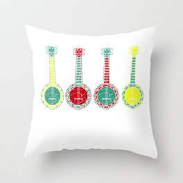Stay Tuned Banjo Player Or Musician Gift Throw Pillow