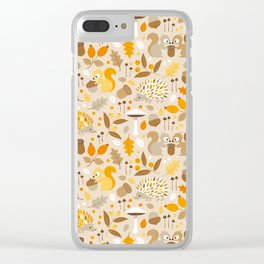 forest in fall Clear iPhone Case