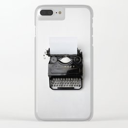 Old fashion typewriter Clear iPhone Case