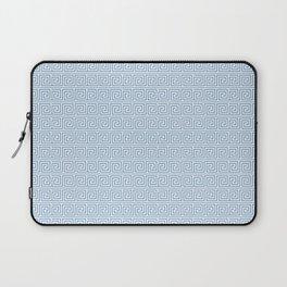 Light Blue Greek Key Pattern Laptop Sleeve