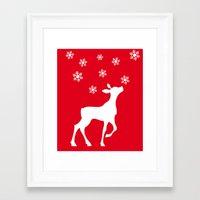 fawn Framed Art Prints featuring fawn by Li-Bro