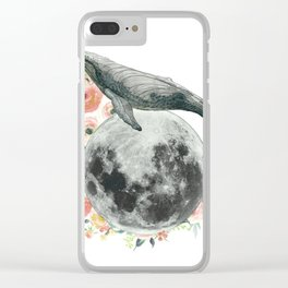 Moon Whale Clear iPhone Case