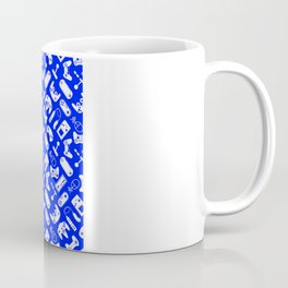 Control Your Game - White on Blue Coffee Mug