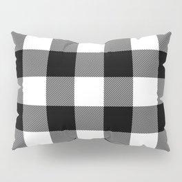 Black and White Plaid Pillow Sham